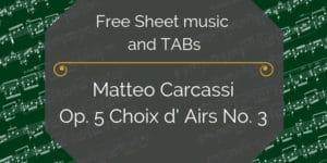 free sheet music carcassi