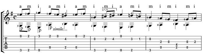 Bach Bouree learn guitar
