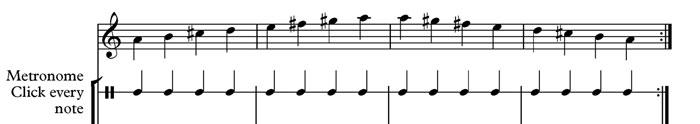 quarter notes metronome