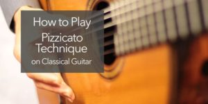 classical guitar pizz pizzicato