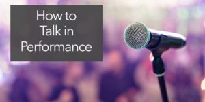 talk in performance stage introduction
