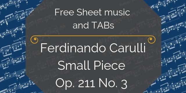 Carulli free guitar pdf