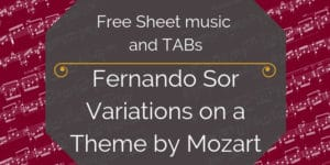 Mozart Sor free guitar