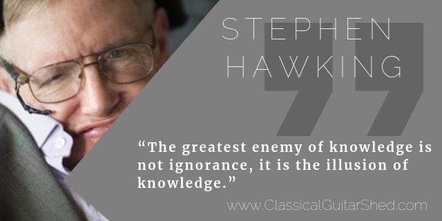 Stephen Hawkings Guitar Practice