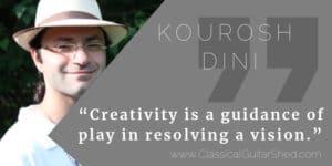 Kourosh Dini guitar practice