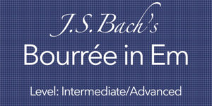 Bach Bourree Classical Guitar