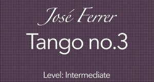 ferrer tango #3 classical guitar