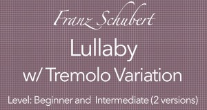 schubert lullaby classical guitar