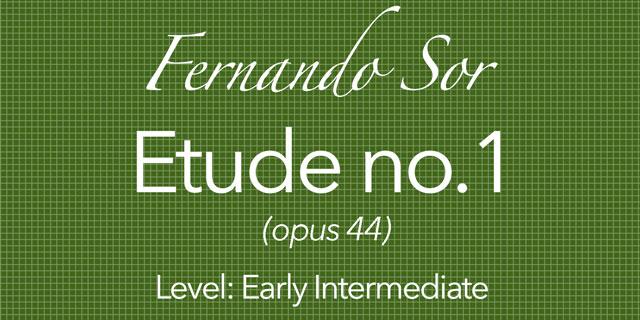 fernando sor etude 1 opus 44 classical guitar