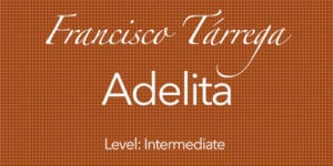 adelita for classical guitar