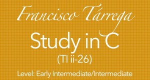tarrega study in C classical guitar