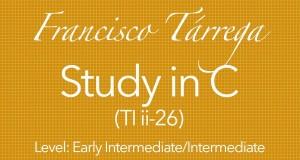 tarrega study in C classical guitar