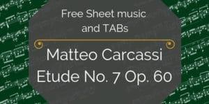Carcassi seven free guitar
