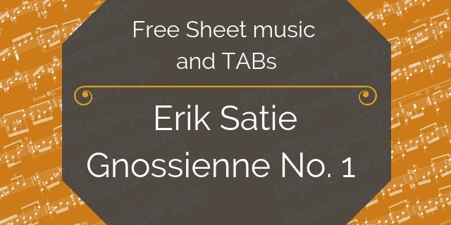 satie free guitar pdf