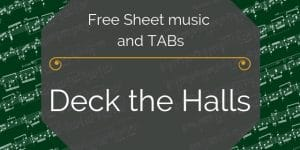 deck the halls holiday pdf music
