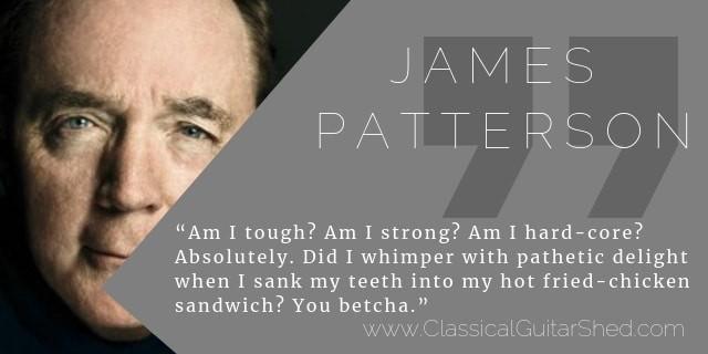 James Patterson guitar practice