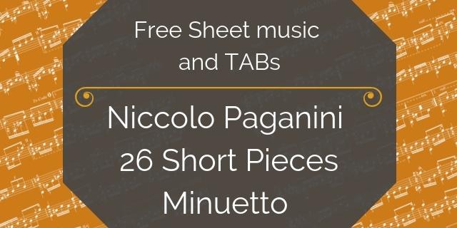 paganini free guitar pdf