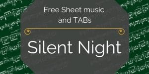 silent night free guitar