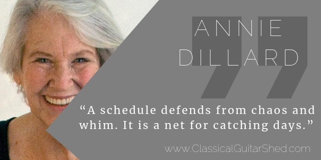Anne Dillard guitar practice