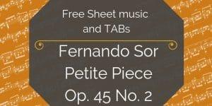 sor free music pdf
