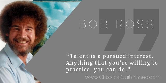 bob ross guitar practice