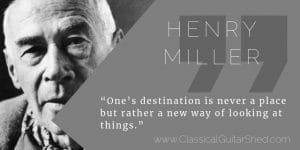 Henry Miller guitar practice