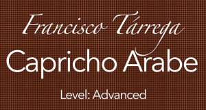 capricho arabe francisco tarrega guitar