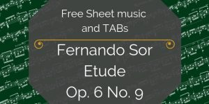 Sor Free music notation
