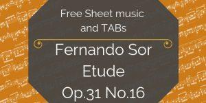 sor free guitar pdf
