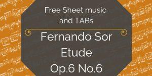 sor free guitar tab