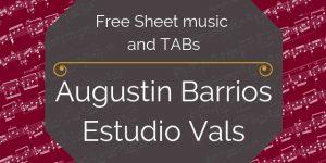 barrios free guitar tab