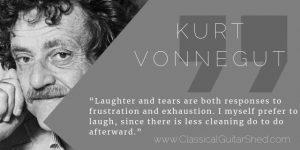 Kurt Vonnegut guitar practice