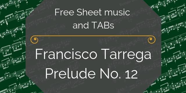 tarrega free music pdf