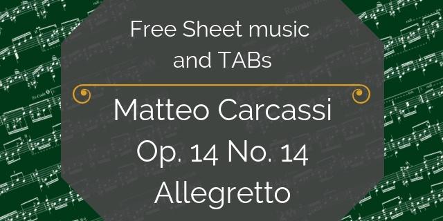 carcassi free guitar pdf