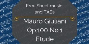 Free Giuliani Guitar Tab