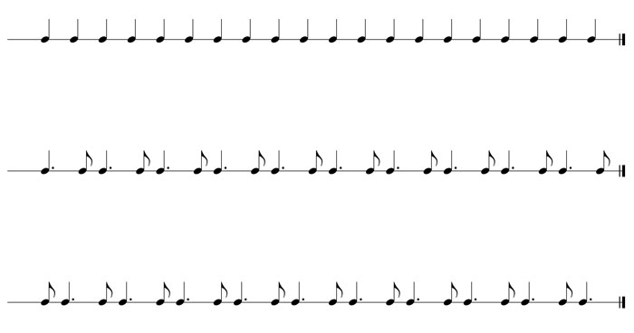 guitar speed dotted rhythms