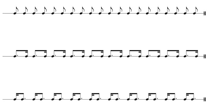 dotted eighth notes
