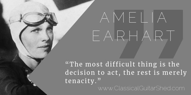 Amelia Earhart guitar practice