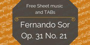 fernando sor free guitar music