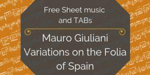giuliani folia free guitar