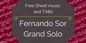 Sor Free Guitar sheet music