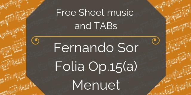 Sor folias free music download