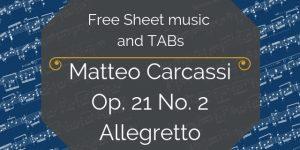 carcassi free sheet music