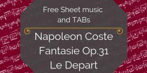 Coste free guitar depart