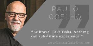 Paulo Coelho guitar practice