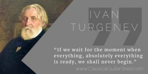 Ivan Turgenev guitar practice