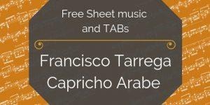 tarrega arabe guitar free