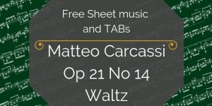 Carcassi waltz free pdf