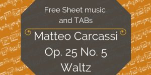 carcassi free guitar music