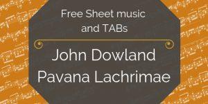 Dowland free guitar music